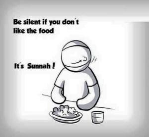Tetap diam ketika Anda tidak menyukai makanan